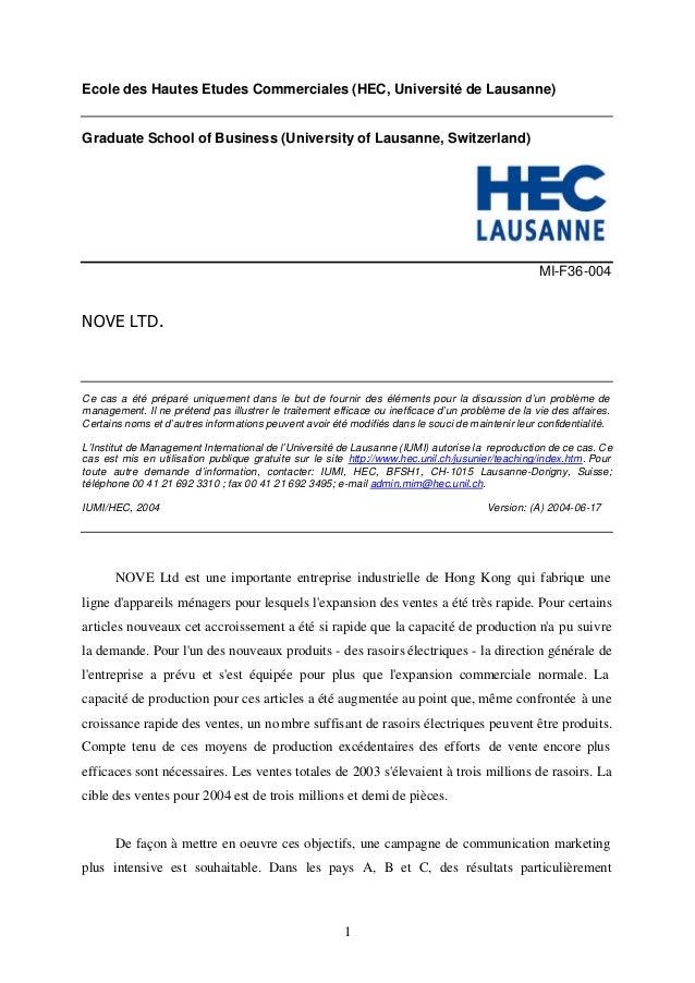 Ecole des Hautes Etudes Commerciales (HEC, Université de Lausanne)  Graduate School of Business (University of Lausanne, S...