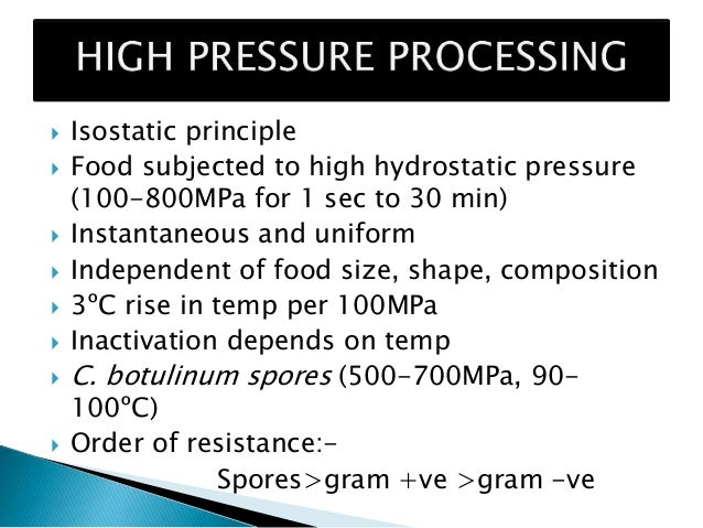 Novel techniques of food processing