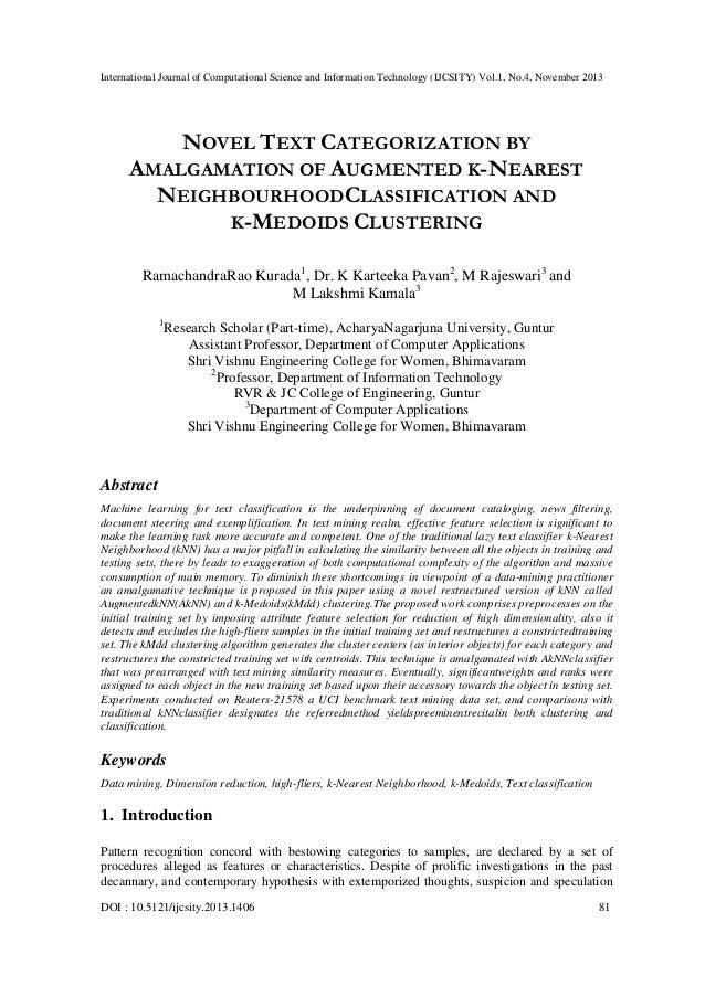 International Journal of Computational Science and Information Technology (IJCSITY) Vol.1, No.4, November 2013  NOVEL TEXT...