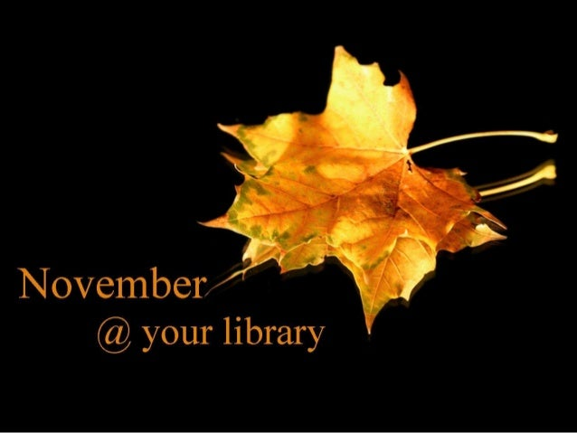 November @ your library