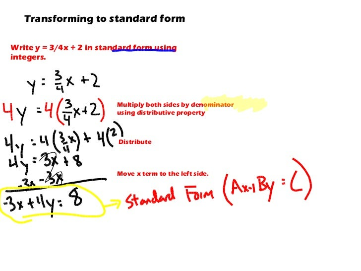 6.2-3 Slope-Intercept and Standard forms