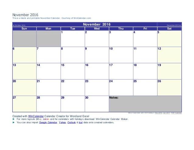 november 2016 bball calendar