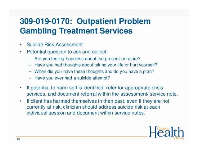 Problem gambling service plan casino juegos