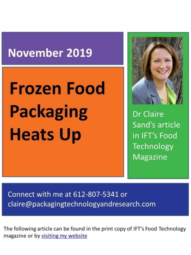 November 2019 Frozen Food Packagin Heats Up