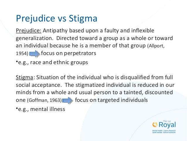 Three Functions of Stigma and Prejudice (Phelan, Link & Dovidio, 2008) 1. Exploitation/domination (i.e., keeping people do...