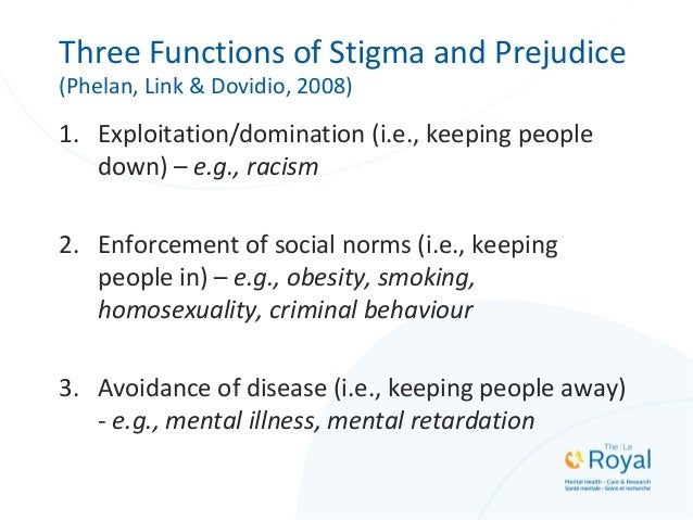 Effects of Stigma on the Targeted Individuals • Depression, demoralization, shame (Lucksted et al., 2011) • Social avoidan...