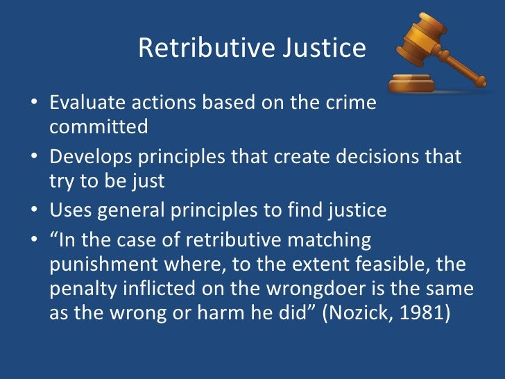 utilitarian vs retributive Examples of essays and research papers on many topics :: utilitarian goals and restorative justice [1751]  utilitarian theories and retributive theories.