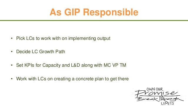 MC VP GIP To Do's •  Attend Consultancy Week  •  Launch Match Like Never Before Challenge  •  Share your survey results fr...
