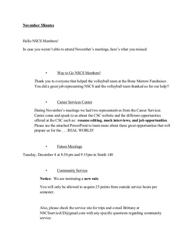 November MinutesHello NSCS Members!In case you weren't able to attend November's meetings, here's what you missed:        ...