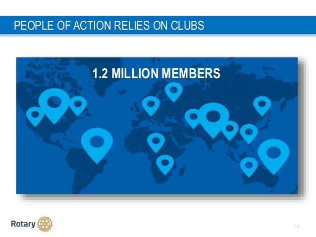 1 4 PEOPLE OF ACTION RELIES ON CLUBS 1.2 MILLION MEMBERS