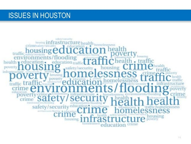 1 6 ISSUES IN HOUSTON
