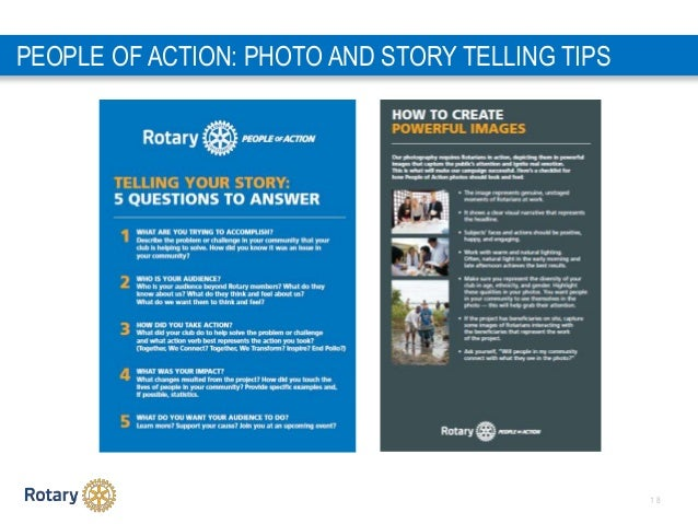 1 8 PEOPLE OF ACTION: PHOTO AND STORY TELLING TIPS