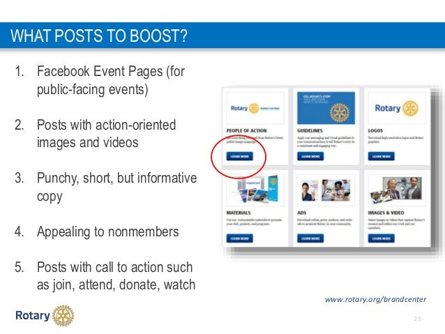 2 5 WHAT POSTS TO BOOST? 1. Facebook Event Pages (for public-facing events) 2. Posts with action-oriented images and video...