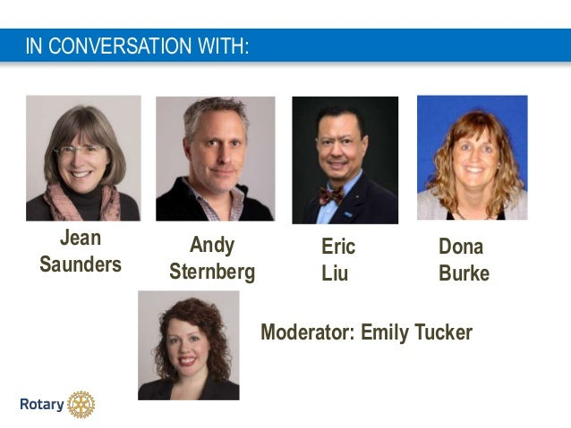 3 Andy Sternberg IN CONVERSATION WITH: Eric Liu Jean Saunders Dona Burke Moderator: Emily Tucker