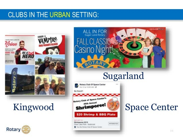 3 0 CLUBS IN THE URBAN SETTING: Kingwood Space Center Sugarland
