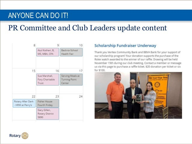 ANYONE CAN DO IT! PR Committee and Club Leaders update content