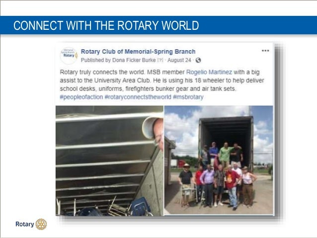 CONNECT WITH THE ROTARY WORLD