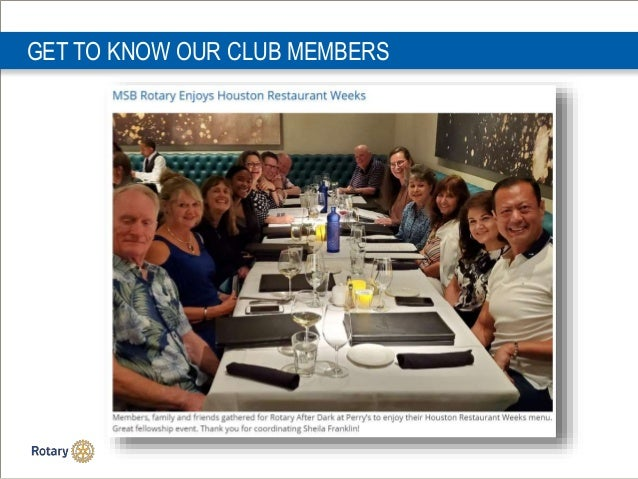 GET TO KNOW OUR CLUB MEMBERS