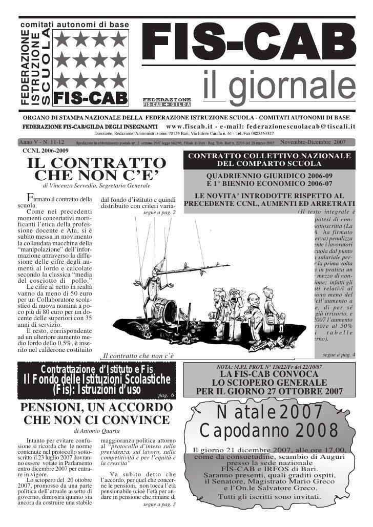 comitati autonomi di base   SCUOLA  FEDERAZIONE  ISTRUZIONE       FEDERAZIONE FIS-CAB/GILDA DEGLI INSEGNANTI              ...