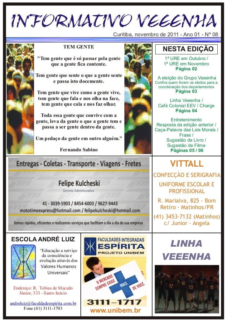 Informativo Veeenha Novembro 2011 Ed. 08