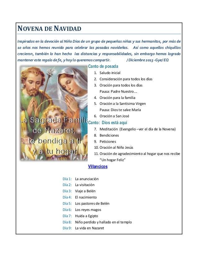 NOVENA DE NAVIDAD Inspirados en la devoción al Niño Dios de un grupo de pequeñas niñas y sus hermanitos, por más de 10 año...