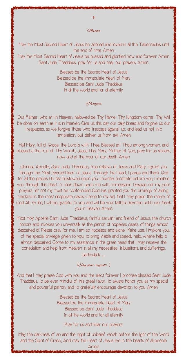 Novena prayers to saint jude thaddeus 2 novena thecheapjerseys Choice Image