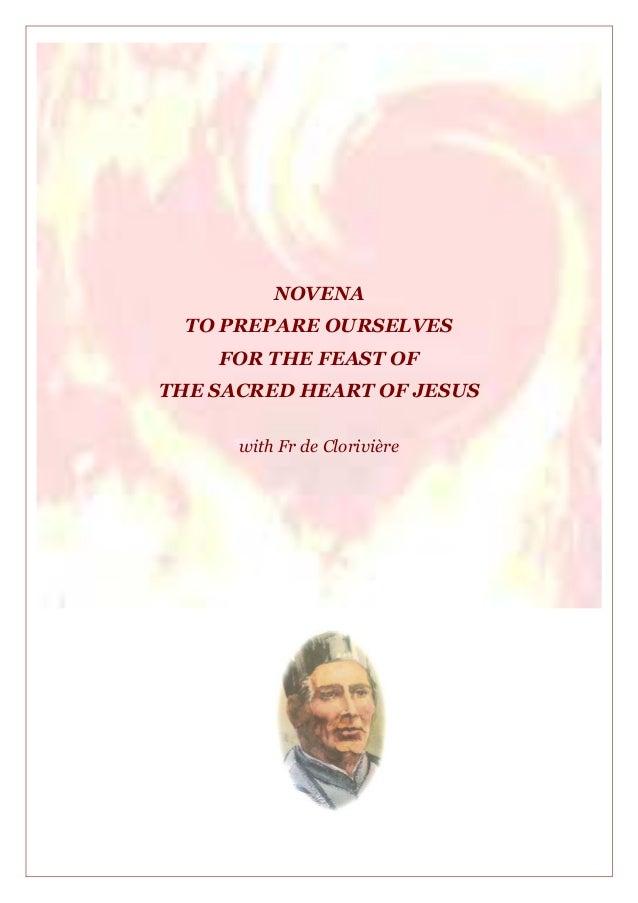 NOVENATO PREPARE OURSELVESFOR THE FEAST OFTHE SACRED HEART OF JESUSwith Fr de Clorivière