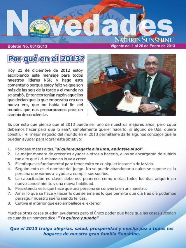 Novedades enero 2013