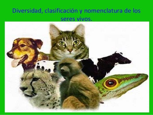 Diversidad, clasificación y nomenclatura de los                   seres vivos.