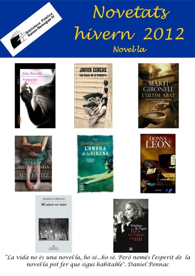 Novetats                         hivern 2012                                        Novel·la                              ...