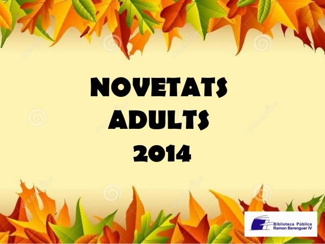 NOVETATS  ADULTS  2014