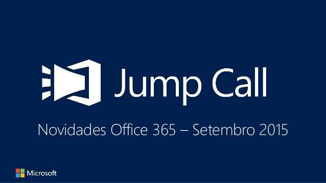 Novidades Office 365 – Setembro 2015