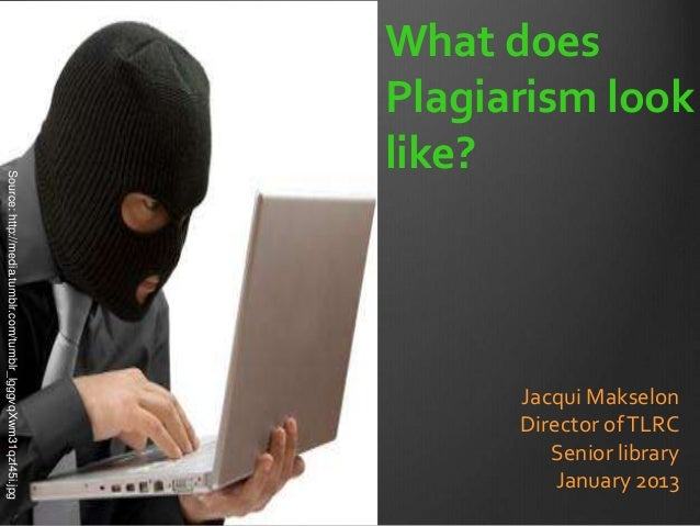 What does                                                               Plagiarism look                                   ...