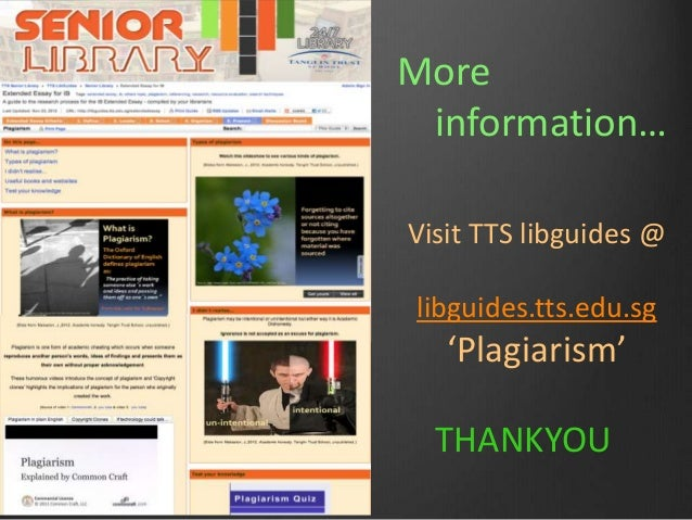 What does plagiarism look like?