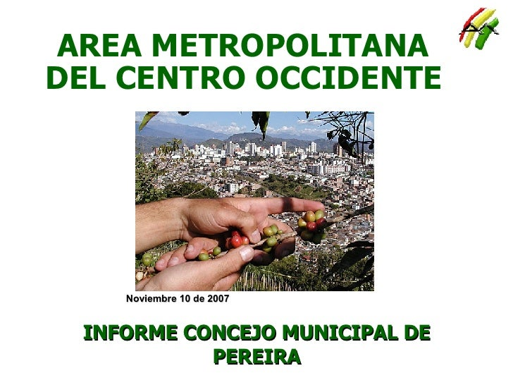 AREA METROPOLITANA DEL CENTRO OCCIDENTE INFORME CONCEJO MUNICIPAL DE PEREIRA Noviembre 10 de 2007