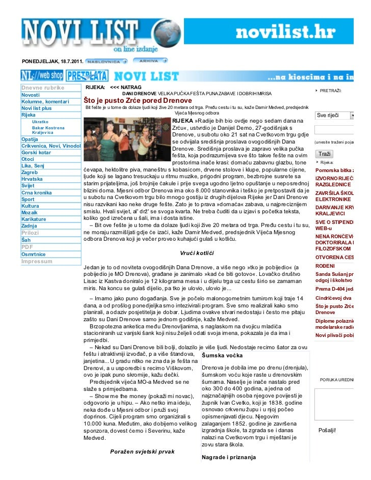 PONEDJELJAK, 18.7.2011.Dnevne rubrike            RIJEKA: <<< NATRAG                                                       ...