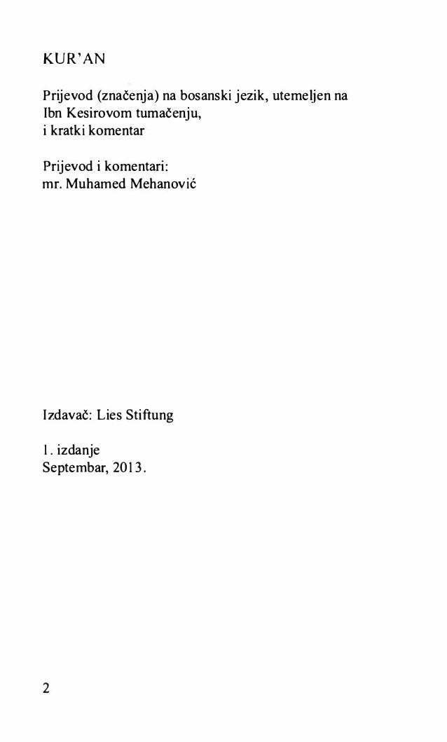 tefsir ibn kesir bosanski pdf