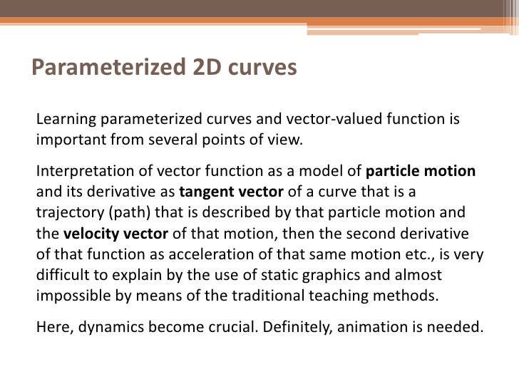 Vector-Valued Functions and GeoGebra