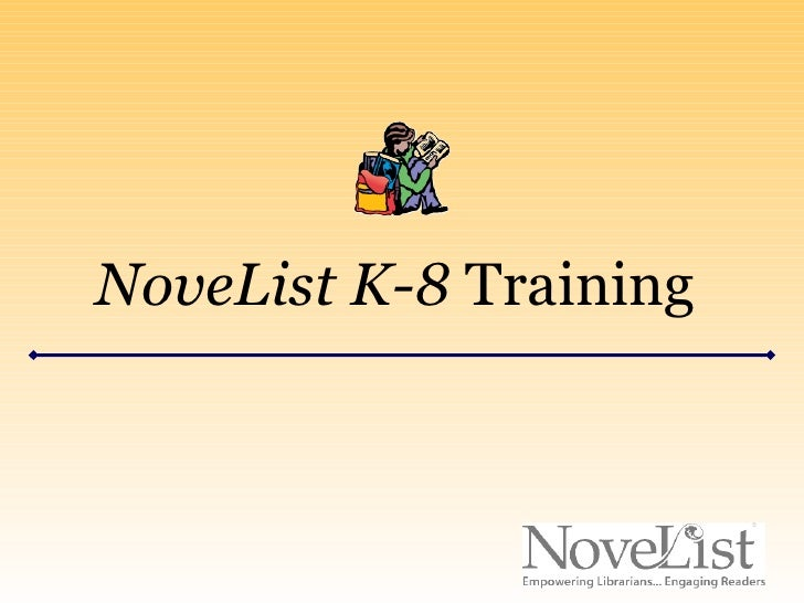 NoveList K-8 Training