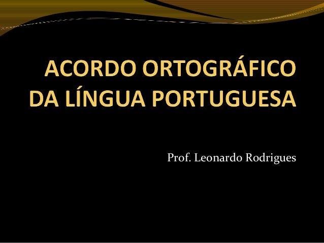 Prof. Leonardo Rodrigues