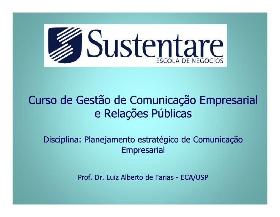 Curso de Gestão de Comunicação Empresarial e Relações Públicas