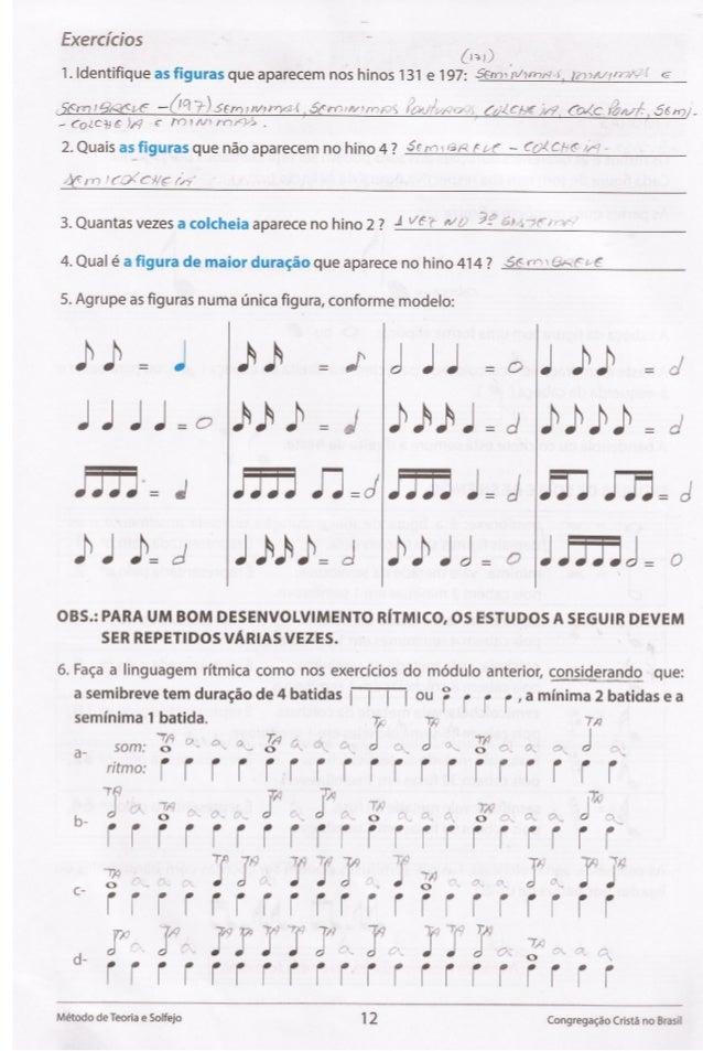 """Exercicios ( I 3 i D  1. ldentifique as flguras que aparecem nos hinos 131 e 197: 56ml fi/ W~' 3. I:  -~""""«*  I G         ,  ..."""