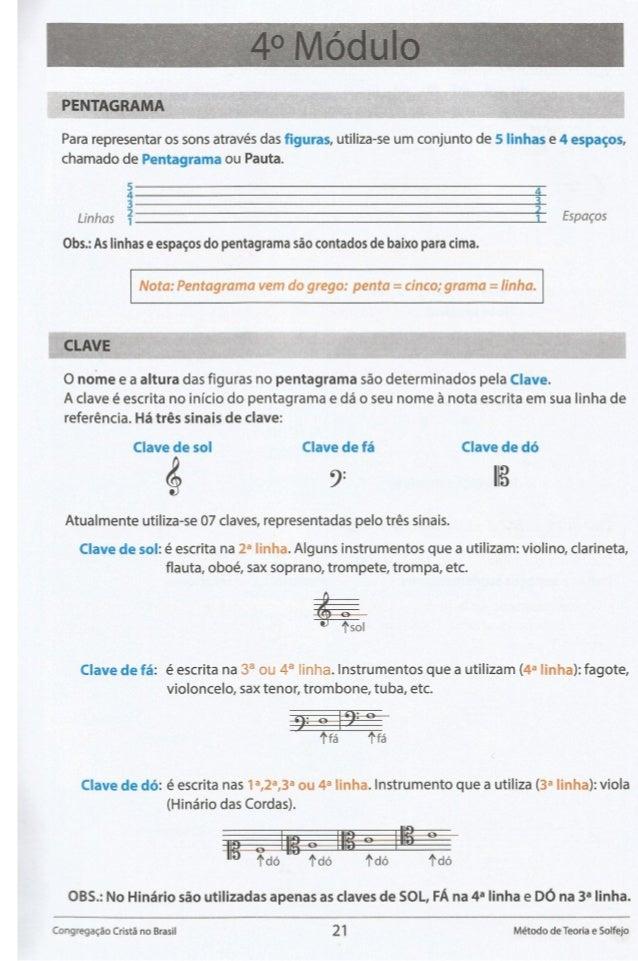 PENTAGRAMA  Para representar os sons através das figuras,  utiliza-se um conjunto de 5 linhas e 4 espagos,  chamado de Pen...
