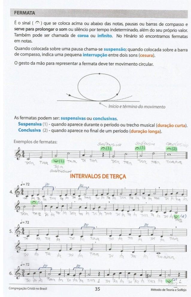 FERMATA     E o sinal ( C' ) que se coloca acima ou abaixo das notas,  pausas ou barras de compasso e serve para prolongar...