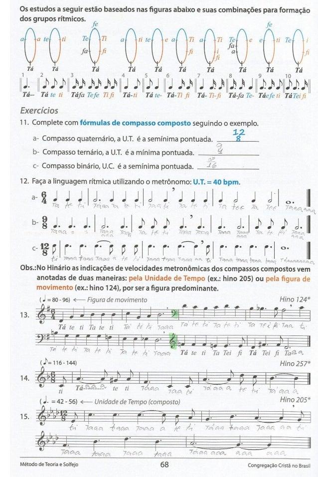 Os estudos a seguir estao baseados nas figuras abaixo e suas combinagoes para formagao dos grupos ritmicos.   f6' f6 a ate ...