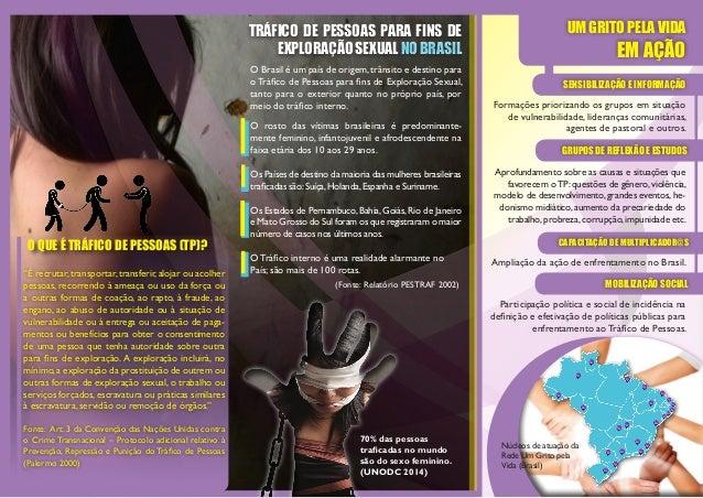 O Brasil é um país de origem,trânsito e destino para o Tráfico de Pessoas para fins de Exploração Sexual, tanto para o ext...