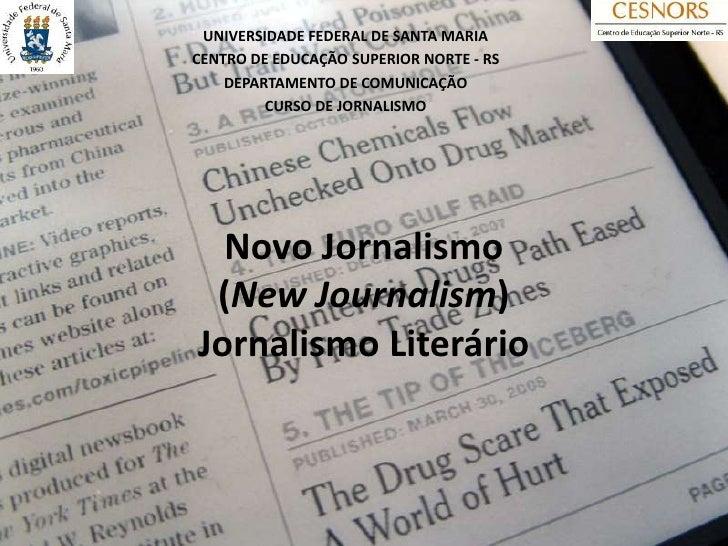 UNIVERSIDADE FEDERAL DE SANTA MARIACENTRO DE EDUCAÇÃO SUPERIOR NORTE - RS    DEPARTAMENTO DE COMUNICAÇÃO         CURSO DE ...