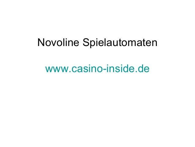 Novoline Spielautomaten www.casino-inside.de