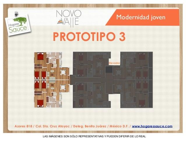 Modernidad joven  PROTOTIPO 3 Elevador  Azores 818 / Col. Sta. Cruz Atoyac / Deleg. Benito Juárez / México D.F. / www.hoga...