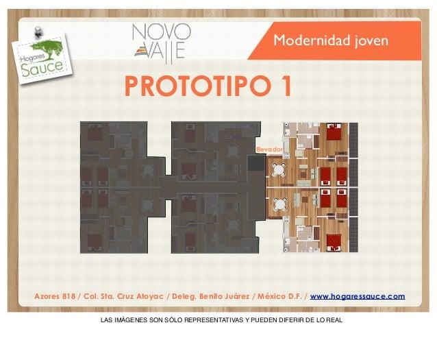 Modernidad joven  PROTOTIPO 1 Elevador  Azores 818 / Col. Sta. Cruz Atoyac / Deleg. Benito Juárez / México D.F. / www.hoga...
